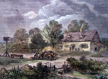 Antique print of Kensal Green