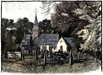 ANTIQUE PRINT: [FOOTS CRAY] FOOT'S CRAY CHURCH.