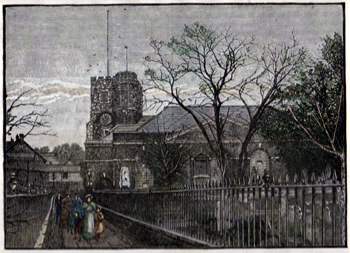 ANTIQUE PRINT: RICHMOND CHURCH.