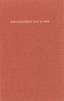 LIEBERT, Herman W. (Herman Wardwell), 1911-1994 : BIBLIOGRAPHY OLD & NEW.