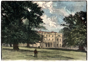 ANTIQUE PRINT: BELVEDERE HOUSE.