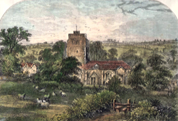 Antique print of Hornsey