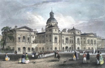 Antique print of the Horse Guards