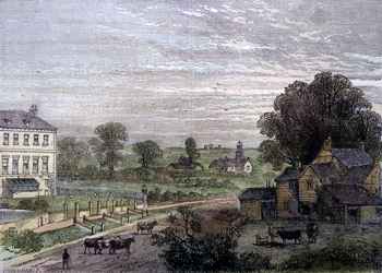 Antique print of Lisson Green, London