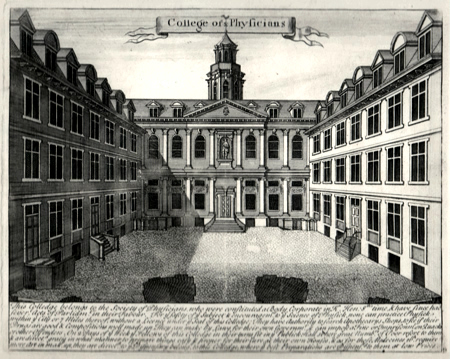 ANTIQUE PRINT: COLLEGE OF PHYSICIANS.