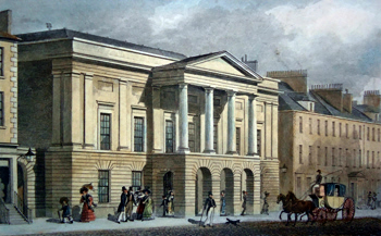 ANTIQUE PRINT: ASSEMBLY ROOMS, GEORGE STREET. EDINBURGH.