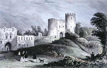 ANTIQUE PRINT: DUDLEY CASTLE, WORCESTERSHIRE.