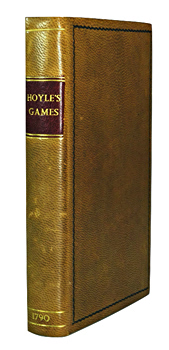 HOYLE, Edmond, 1672-1769 : HOYLE'S GAMES IMPROVED;  BEING PRACTICAL TREATISES ON WHIST, QUADRILLE, PIQUET, CHESS, BACK-GAMMON, DRAUGHTS, CRICKET, TENNIS, QUINZE, HAZARD, LANSQUENET, BILLIARDS, AND GOFF OR GOLF ...
