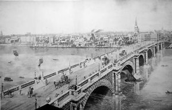 ANTIQUE PRINT: [BLACKFRIARS BRIDGE].