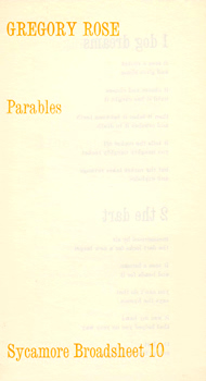 ROSE, Gregory, 1948- : PARABLES.