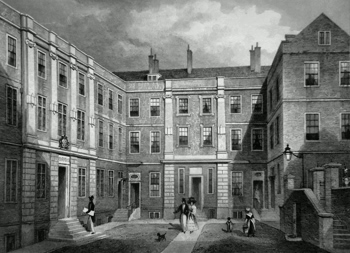 ANTIQUE PRINT: [COLLEGE OF ARMS – QUEEN VICTORIA STREET] HERALD'S COLLEGE, BENNET'S HILL.