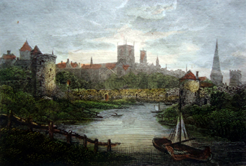 ANTIQUE PRINT: YORK.