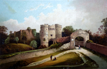 ANTIQUE PRINT: CARISBROOKE CASTLE – ISLE OF WIGHT.