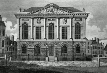 ANTIQUE PRINT: HICKS' HALL, CLERKENWELL.