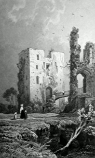 ANTIQUE PRINT: [RAGLAN] THE KEEP OF RAGLAND CASTLE, MONMOUTHSHIRE.