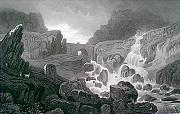 ANTIQUE PRINT: FALL OF THE OGWEN, IN NANT FRANGON, CAERNARVONSHIRE.