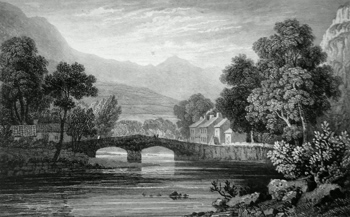 Antique print of Caernarvonshire
