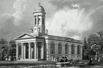 ANTIQUE PRINT: ST. DAVID'S CHURCH, EXETER.