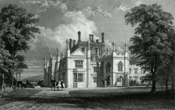 ANTIQUE PRINT: TREGOTHNAN HOUSE, CORNWALL. SEAT OF THE EARL OF FALMOUTH, TO WHOM THIS PLATE IS RESPECTFULLY DEDICATED, BY THE PUBLISHERS.