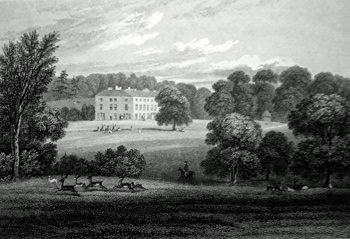 ANTIQUE PRINT: [EAST CARLTON] CARLTON HALL, NORTHAMPTONSHIRE.