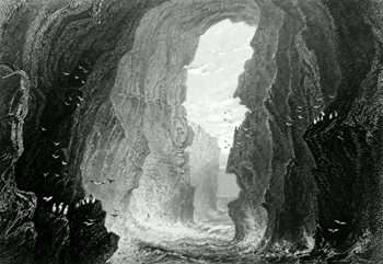ANTIQUE PRINT: DUNKERRY [RUNKERRY] CAVE. (COUNTRY ANTRIM.)