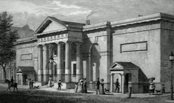ANTIQUE PRINT: THE RUSSELL INSTITUTION, GREAT CORAM STREET. TO LORD JOHN RUSSELL, THIS PLATE IS RESPECTFULLY DEDICATED.