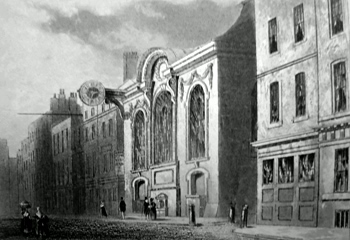 ANTIQUE PRINT: ST. SWITHIN'S CH. AND LONDON STONE, CANNON STREET.