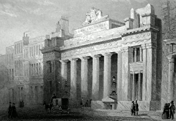 ANTIQUE PRINT: THE CORN EXCHANGE, MARK LANE.
