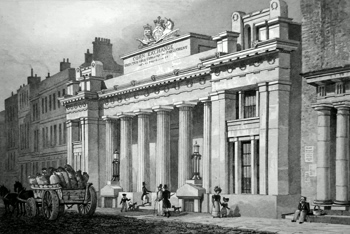ANTIQUE PRINT: THE NEW CORN EXCHANGE, MARK LANE.
