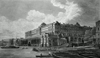 ANTIQUE PRINT: SOMERSET HOUSE.