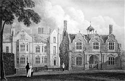 Antique print of Merton hall near Watton