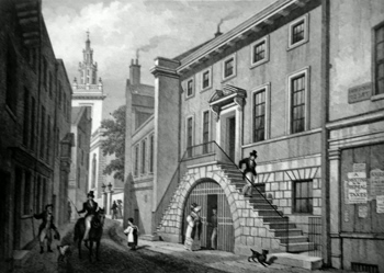 ANTIQUE PRINT: [DYERS' HALL] DYER'S HALL, COLLEGE STREET.