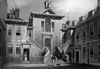 Antique print of Chancery Lane