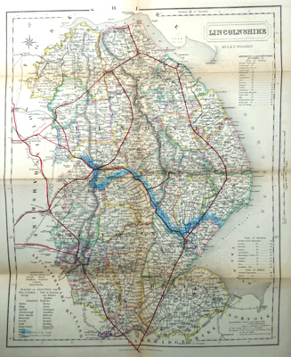 ANTIQUE MAP: LINCOLNSHIRE.