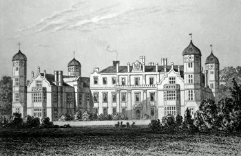 ANTIQUE PRINT: COBHAM HALL, KENT, THE SEAT OF EARL DARNLEY.