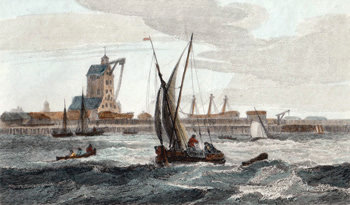 Antique print of Blackwall