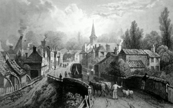 ANTIQUE PRINT: CHIPPING ONGAR, ESSEX.
