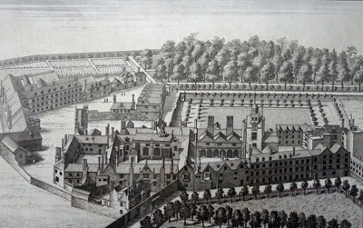 ANTIQUE PRINT: THE CHARTER-HOUSE HOSPITAL.