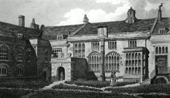 ANTIQUE PRINT: GREAT HALL, CHARTER HOUSE.