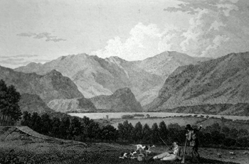 ANTIQUE PRINT: DERWENT-WATER.