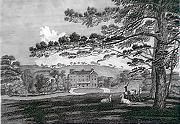 ANTIQUE PRINT: VIEW OF CHADDERTON HALL.
