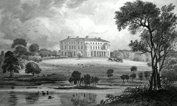 ANTIQUE PRINT: THE MOTE NEAR MAIDSTONE. THE SEAT OF LORD ROMNEY, LORD LIEUTENANT OF THE COUNTY OF KENT.