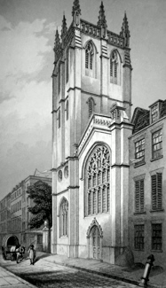 ANTIQUE PRINT: ST. ALBAN'S, WOOD STREET.