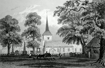 Antique print of Bromley