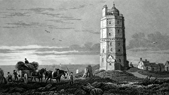 ANTIQUE PRINT: NORTH FORELAND LIGHT HOUSE.
