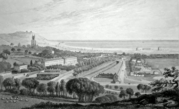 Antique print of Hythe, Kent