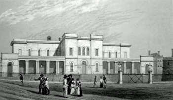ANTIQUE PRINT: THE NEW SESSIONS HOUSE, MAIDSTONE. KENT.