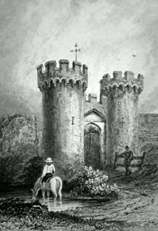ANTIQUE PRINT: [COOLING] THE ENTRANCE TO COWLING CASTLE. KENT.