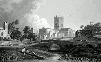 Antique print of St. David's