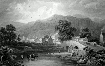 Antique print of Keswick